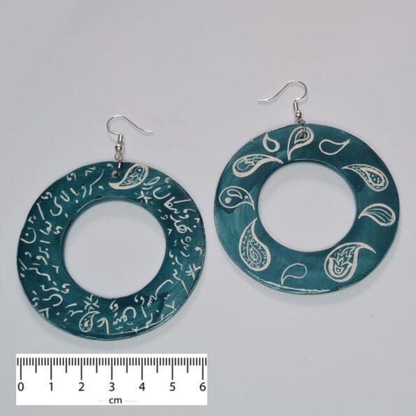 Poetry & Paisley Earrings -6-cm
